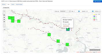 River Colne and Roman River data on the NBN Atlas